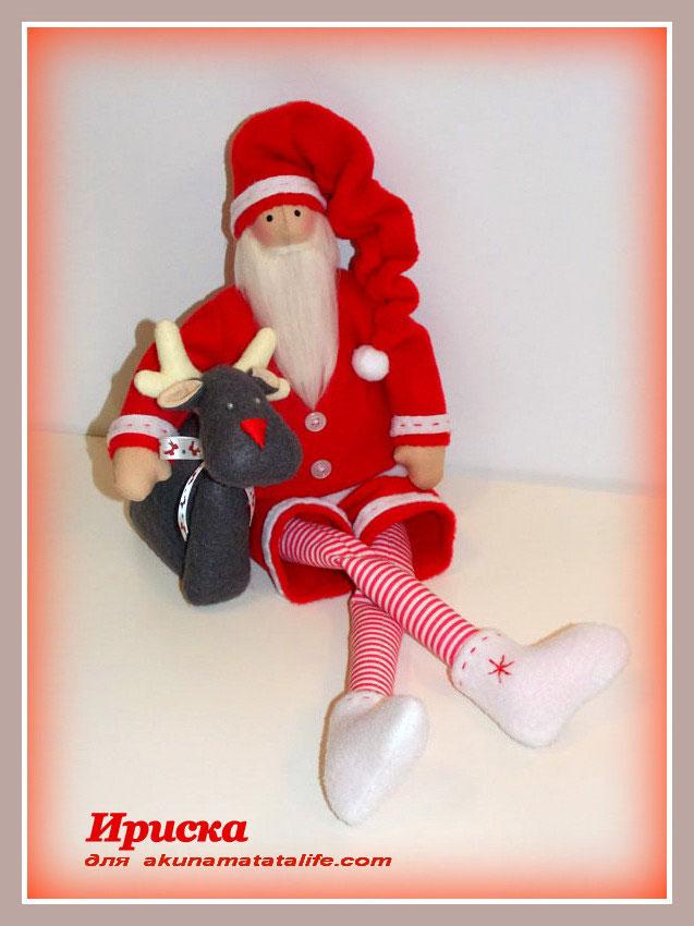 "Тильда ""Санта Клаус с оленем"""