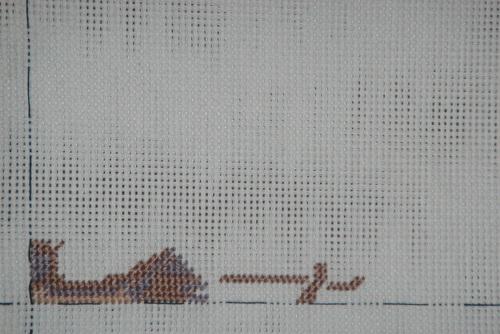 Вышиваю гобеленовым швом