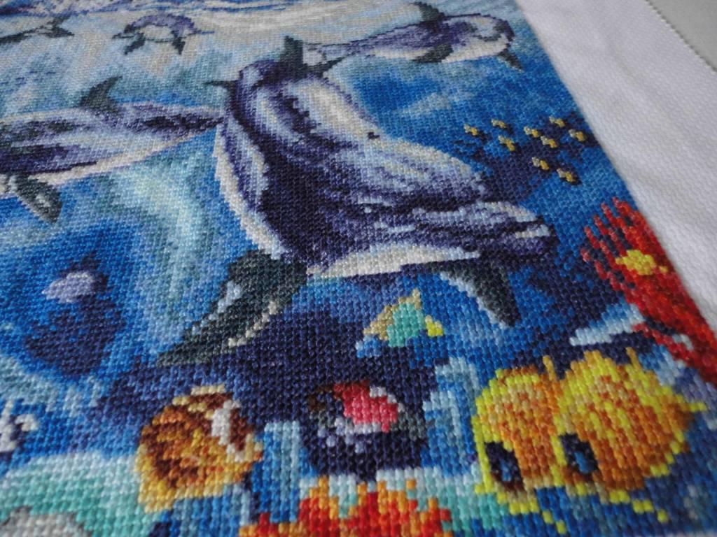Вышивки для детей. Дельфин, рисунки для вышивки крестом 29
