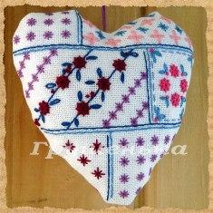 вышивка, сердце