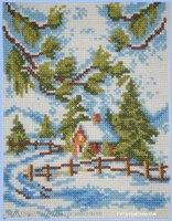 Вышивалось по схеме из болгарского журнала подбором в рамках.  Картинка получилась небольшая - 70 х 90 крестиков.