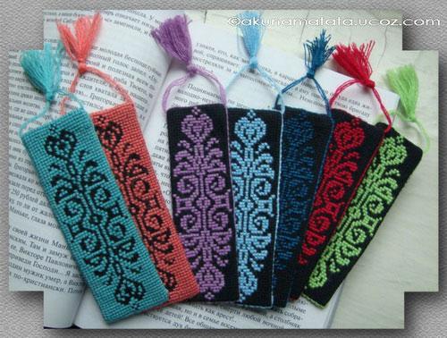 Закладка для книг мастер класс с вышивкой